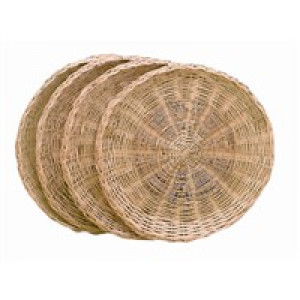 Wicker paper plate holder 4 per set