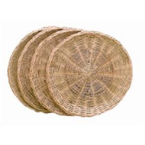 Wicker paper plate holder 4 per set