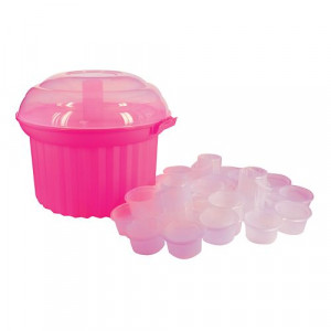 Cupcake stand, Holds 24 cupcakes, Carousel, pink
