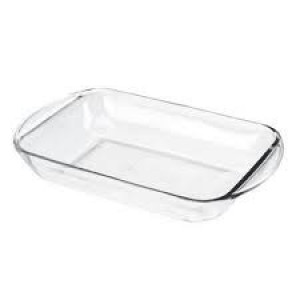 Glass oblong bake dish 8x11, 2 quart