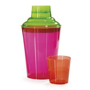 Neon Cocktail Shaker Set 17.5 ounce, plastic