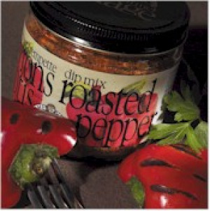 Roasted pepper ready dip jars