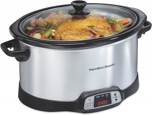8-Quart Programmable Slow Cooker, Silver