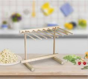 "Wood pasta drying rack, 11.5"" x 14"""
