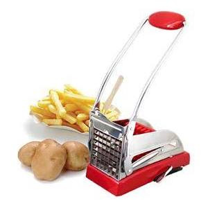 French fry cutter w/ 2 cutting heads