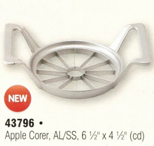 Apple corer & wedger 12 wedges, aluminum & s/s