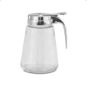 Syrup dispenser, 10 oz., glass jar