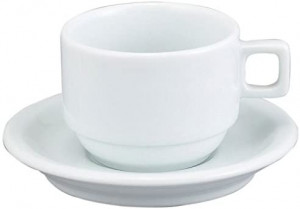 Demi Cup & Saucer 3 ounce, white