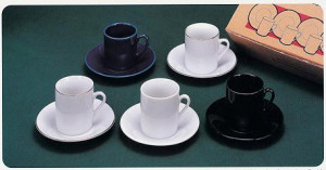 Demi cup & saucer, black espresso