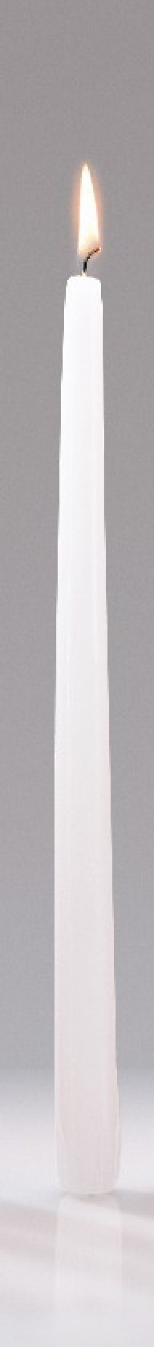"White 12"" taper candles, 12 each per box"