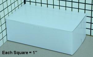 10X6X3.5 CAKE BOX, 250/cs