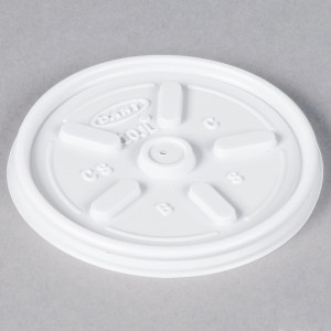 Lid, White, Vented, Fits 10J10, 10pk/100