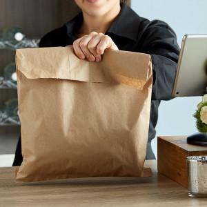 Kraft flat bag 12 x 15 1000/pk