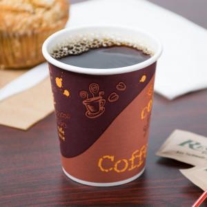 Hot cup, 8 oz, Paper, 20pk/50, Brown w/ logo