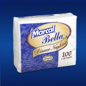 15x17 Bella dinner napkin 2-ply, 30/100,6410