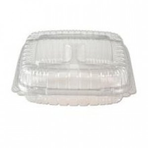 5x5 Clear hinged takeout container, 4pk/125