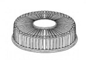 """16"""" Plastic dome lid, 25/cs, Snap-on"""
