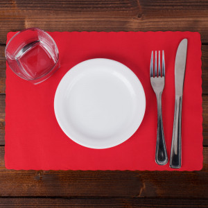 Hot red Placemat, 9.5x14.5, 1000/case