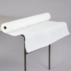 "Paper Tablecover Roll 40""x300', White, Paper"