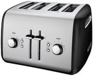 4 slice all metal toaster Onyx Black