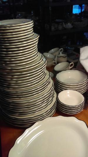 """Black Platinum 6.5"""" Bread Plate #4"""