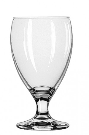Goblet glass, 10 oz., 3dz/case. Teardrop.