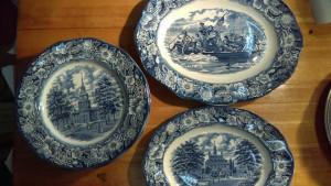 "Liberty Blue 14"" Platter"