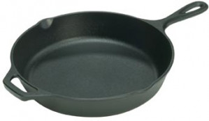 "Logic skillet, 13 1/4"" diameter, Cast iron"