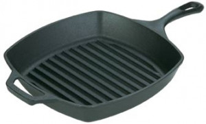 "Logic square grill pan, 10 1/2"", Cast iron"