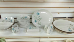 Syracuse China Concord Rose Sugar & Creamer