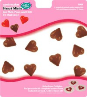 Heart minis candy mold, 17 cavities