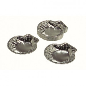 "Scallop foil 5"" diameter 1-3/8"" tall, 100 per pack"