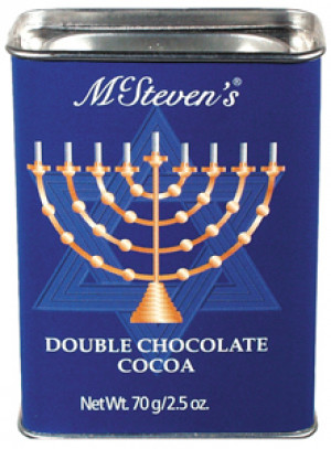 Hanukkah cocoa tin, 2.5 oz, Double chocolate