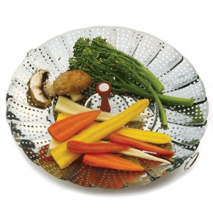 Large vegetable steamer basket, 7-10""