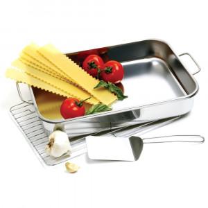 Deep dish roasting & lasagna pan set, 16x12