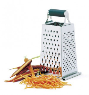 Grip-EZ 4-sided grater with sliding tray