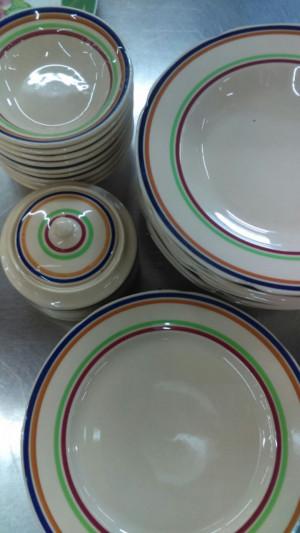 """Fiesta Stripe 8"""" Lunch Plate"""