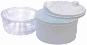 Deluxe salad spinner, white