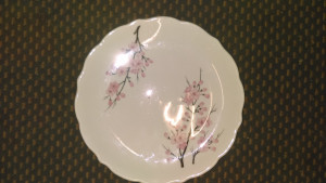"Syracuse China Cherry Blossom 11.75"" dinner plate"