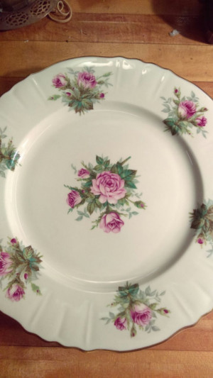"June Rose 6 3/8"" Bread Plate"
