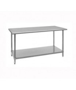 30x72 s/s Work Table Galvinized legs & shelf