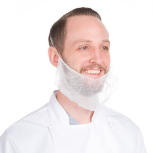 Beard Protector- white nylon, 10/100ct.