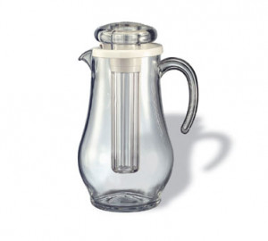 Water Pitcher w/ Ice tube 1.9 liter, 64.2 oz