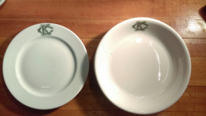 "Knights of Columbus 6-7/8"" Bread Plate"