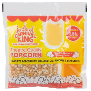 All In One Popcorn kit 4 ounce 24/cs