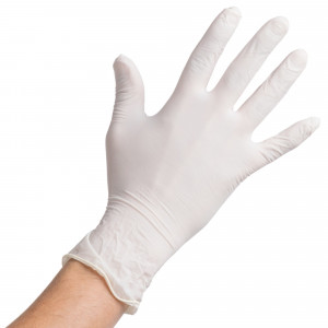 Large Latex Gloves, Powered, 10/100
