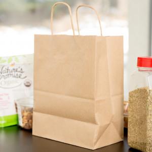 Kraft shopping bag, recycled 8x4x10.25