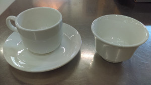 """9 Ounce Stackable Cup w/ 6.25"""" Saucer"""