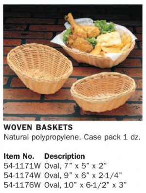 Oval Basket / Natural Woven