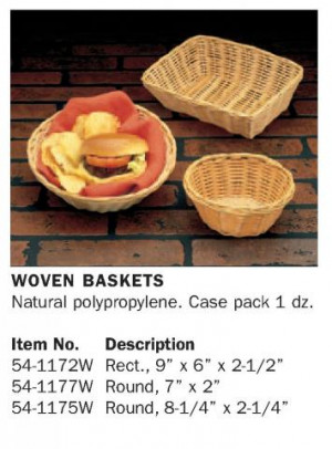 Round Basket / Natural Woven